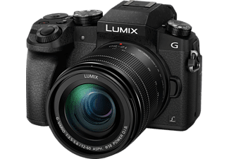 PANASONIC Lumix DMC-G70M Systemkamera 16 Megapixel mit Objektiv 12-60 mm f/3.5-5.6, 7.5 cm Display   Touchscreen, WLAN