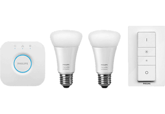 PHILIPS Hue White Ambiance LED E27 Starter Set, weiß