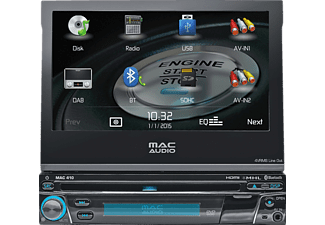MAC AUDIO MAC 410, Multimedia-Receiver, 1 DIN, Ausgangsleistung/Kanal: 4x 40 Watt