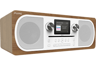 PURE DIGITAL Evoke C-F6 - Digitalradio (DAB+, FM, Internet radio, Braun)