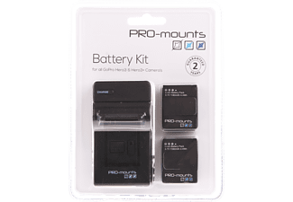 PRO-MOUNTS Batteri-kit till GoPro Hero3 & Hero3+
