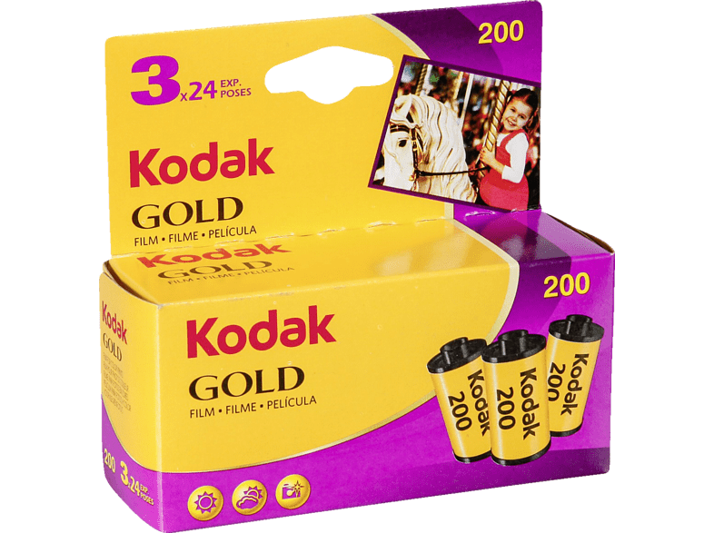 KODAK Gold 200 135/24 Film Dreierpack, Color-Negativ-Film