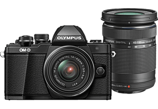 OLYMPUS OM-D E-M10 Mark II Systemkamera 16.1 Megapixel mit Objektiv 14-42 mm f/3.5-5.6, 7.6 cm Display   Touchscreen, WLAN