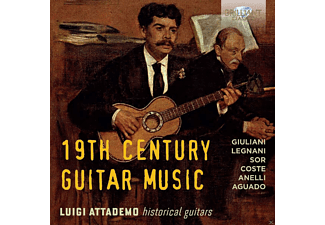 Luigi Attademo - 19th Century Guitar Music - (CD)