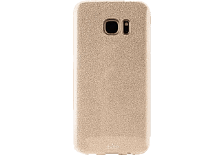 PURO Shine Collection Handyhülle, Gold, passend für Samsung Galaxy S7 edge