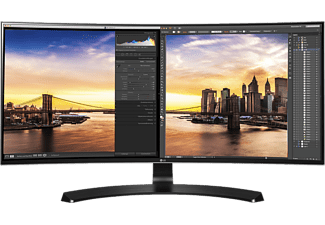 LG Computerscherm 34UC88-B UltraWide QHD LED IPS Curved