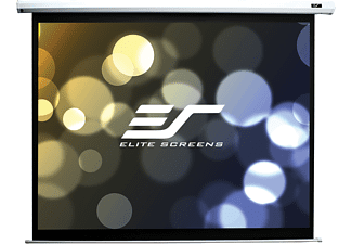 ELITE SCREENS ELECTRIC100XHT Motorleinwand, Weiß
