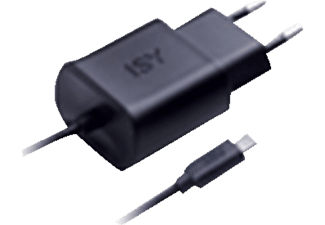 ISY Travel Quick Charger with Micro USB 2.0A Black - IWC 3500