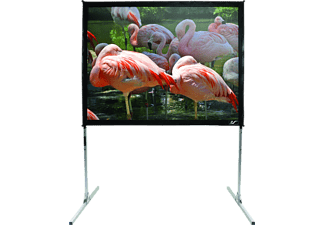 ELITE SCREENS Q150V1 Mobileleinwand, Schwarz