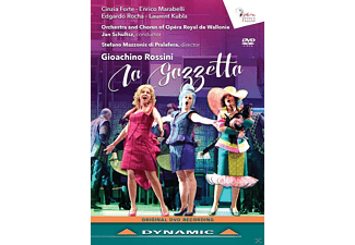 Cinzia Forte, Enrico Marabelli, Edgardo Rocha, Laurent Kubla, Chorus and Orchester of Opéra Royal de Wallonie - La Gazzetta - (DVD)