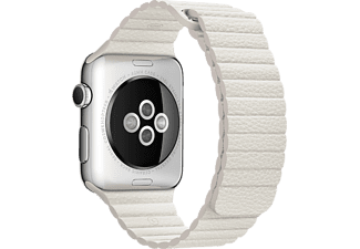 APPLE 42 mm Läderloop Medium - Vit