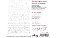 William Christie, Les Arts Florissants - Bien Que L'amour... [CD]