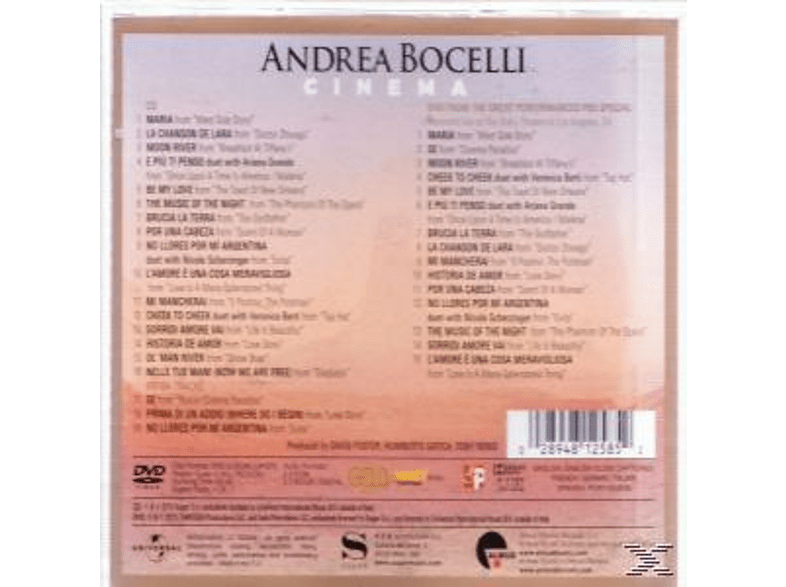 Andrea Bocelli - Cinema (Special Edition) [CD + DVD Video]