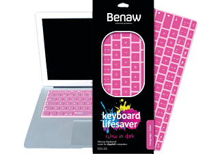 BENAW Glow in Dark - Tastatur Skin für 13 Zoll MacBook/Pro/Air/Wireless-Tastaturen (deutsch), Keyboard Skin, Pink