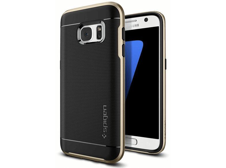 SPIGEN  555CS20202 Backcover Samsung Galaxy S7 Thermoplastisches Polyurethan/Polycarbonat Gold | 08809466643798