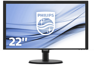 PHILIPS 223V5LHSB2 21.5 Zoll Full-HD Monitor (5 ms Reaktionszeit, 60 Hz)