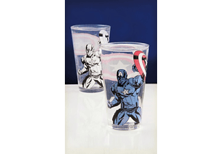 PALADONE PRODUCTS Captain America Glas Farbwechsel Glas, Transparent