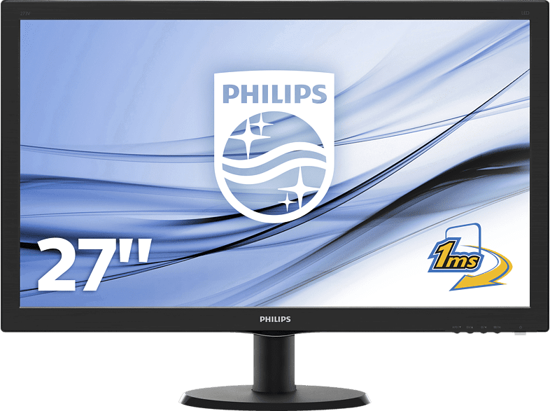 PHILIPS 273V5LHAB  Full-HD Monitor (1 ms Reaktionszeit, 60 Hz)
