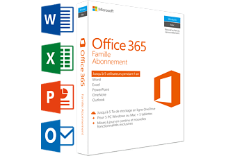 Office 365 Famille (FR) | 5 PC ou Mac + 5 tablettes + 5 smartphones