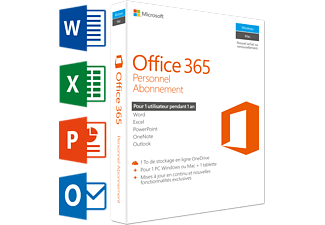 Office 365 Personnel (FR) | 1 PC ou Mac + 1 tablette + 1 smartphone