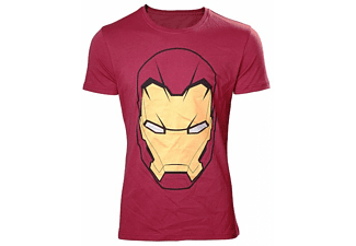 Marvel T-Shirt -L- Iron Man Kopf, rot