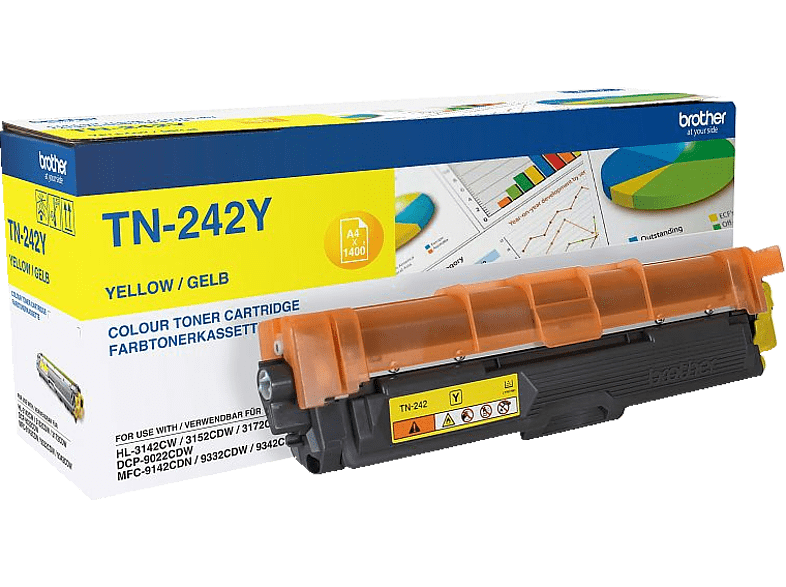 BROTHER TN-242Y Tonerkartusche Gelb