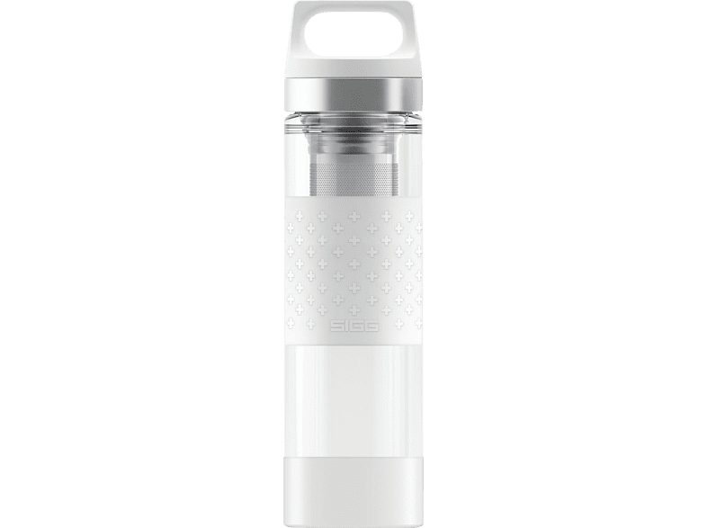 SIGG 8539.4 Hot & Cold Glass White  Isolierflasche