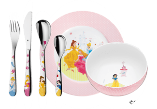 WMF 12.8240.9964 Disney Princess 6-tlg., Kinderbesteck-Set