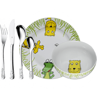 WMF 12.8002.9964 Safari 6-tlg. Kinderbesteck-Set