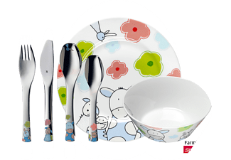 WMF 12.9445.9964 Farmily 6-tlg., Kinderbesteck-Set