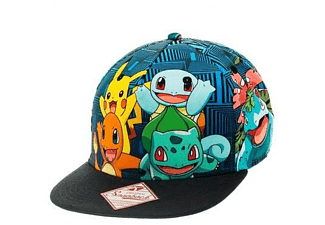 Pokémon Snapback Cap Charmander and Friends