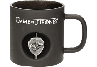 Game of Thrones Tasse schwarz Stark 3D-Logo