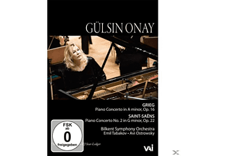Gülsin Onay - Piano Concertos by Grieg and Saint-Saens - (DVD)
