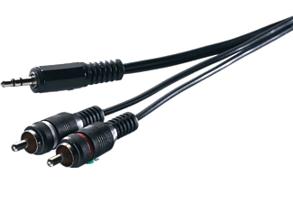 VIVANCO Audiokabel 2xRCA till 3.5 mm