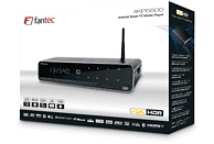 FANTEC 4KP6800 Media Player, Schwarz/Aluminum, 16 GB