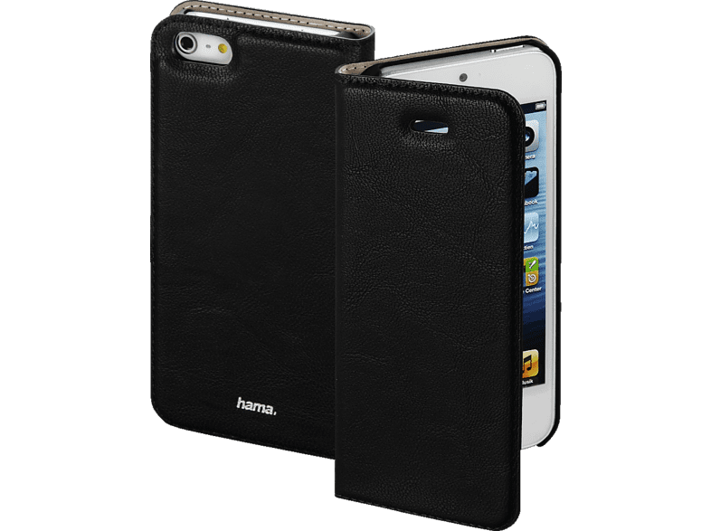 HAMA Guard , Bookcover, Apple, iPhone 5, iPhone 5s, iPhone SE, Kunstleder, Schwarz