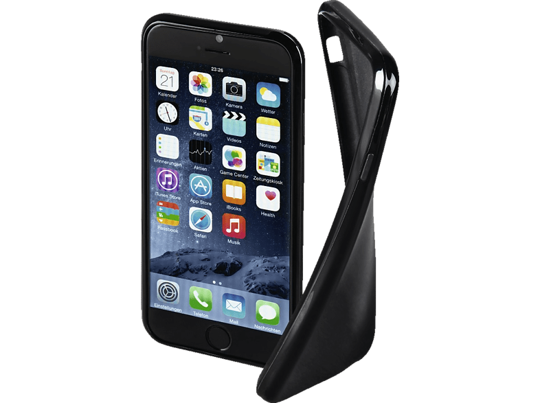 HAMA Crystal , Backcover, Apple, iPhone 6, iPhone 6s, Thermoplastisches Polyurethan, Schwarz