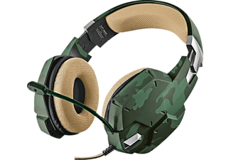 TRUST, 20865, GXT 322C, Gaming-Headset, Grün/Camouflage