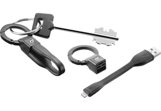 CELLULARLINE FreeCable Câble USB - microUSB (USBFREECKEYMUSBK)
