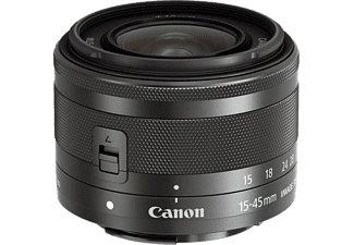 CANON Standaardlens EF-M 15-45mm f/3.5-6.3 IS STM Graphite (0572C005AA)