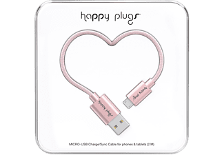 HAPPY PLUGS microUSB-kabel 2 m Pink Gold (157012)