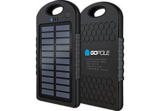 GOPOLE GPP-26 POWER BANK+SOLAR CHARGER - Powerbank (Schwarz)