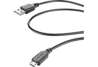 CELLULAR LINE 37713, Ladekabel, 0.6 m, Schwarz