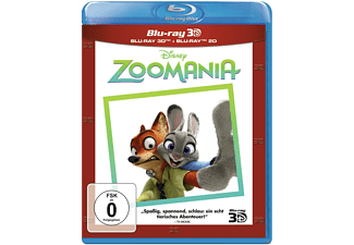 Zoomania 3D+2D Animation/Zeichentrick Blu-ray 3D