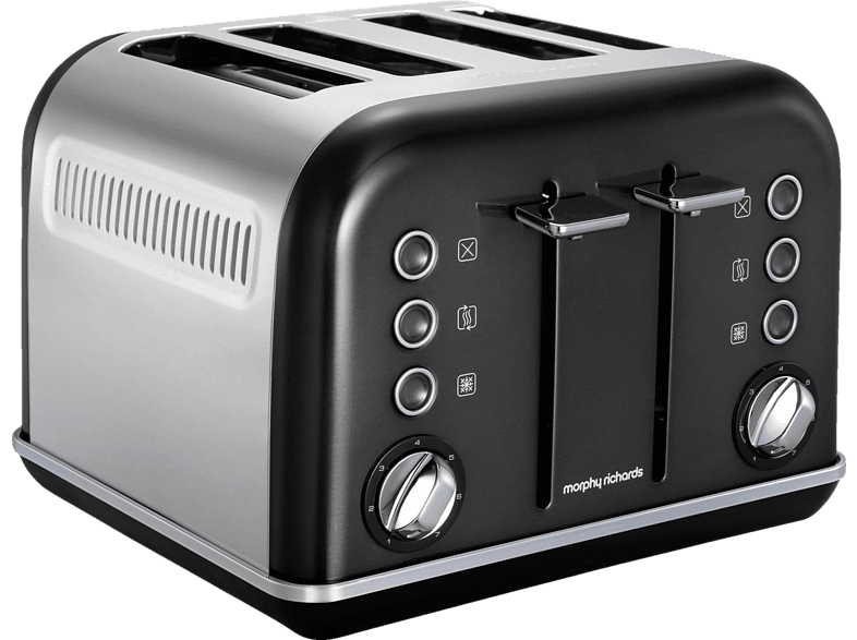 MORPHY RICHARDS  242018 Accents Toaster Schwarz (1880 Watt, Schlitze: 4) | 05011832050625