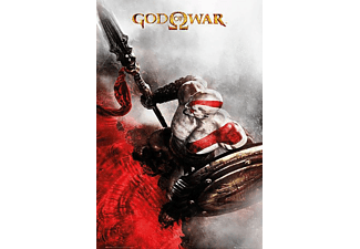 God of War Poster Kratos Speer & Schild