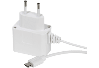 VIVANCO Micro-USB-laddare - Vit