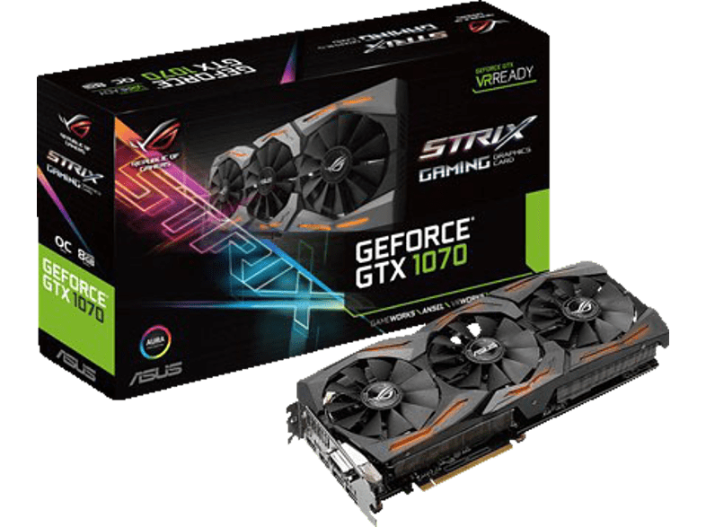 ASUS GeForce® GTX 1070 ROG Strix 8GB Gaming (NVIDIA, Grafikkarte)