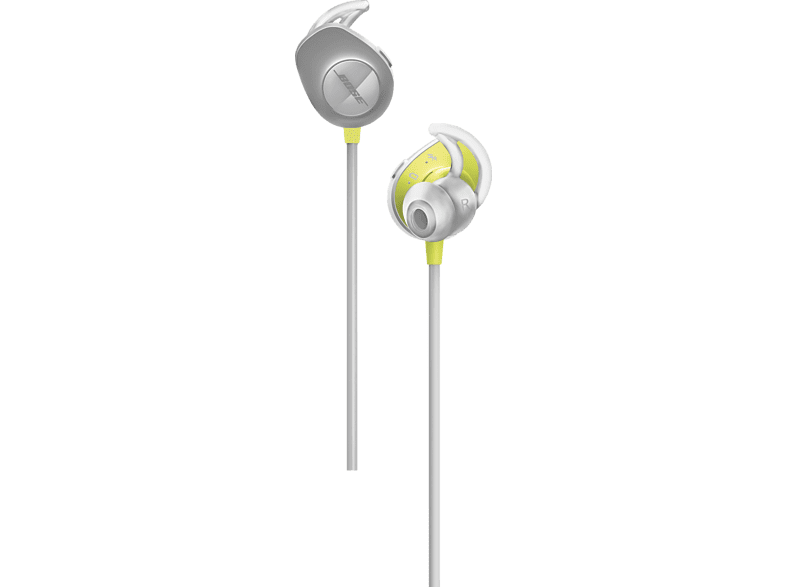 BOSE  SoundSport Wireless, In-ear Kopfhörer, Grau/Zitron |
