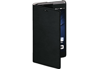 Slim Bookcover Huawei P9 High-Tech-PU Schwarz